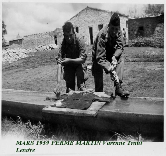 1959 mars - Ferme martin jour de  Lessive