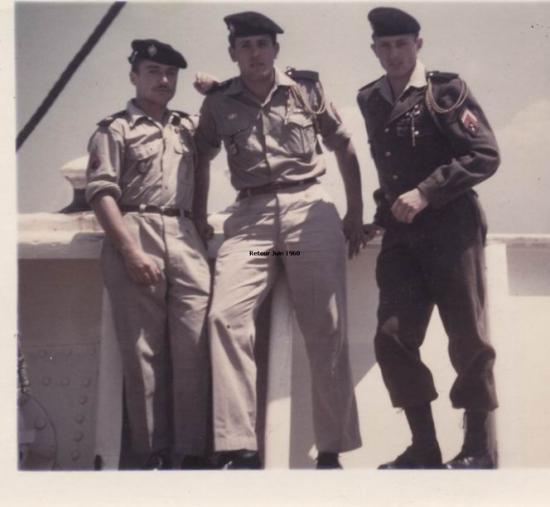 1960 - Embarquement sur le Sidi Ferruch
