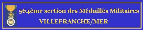 Médaillés Militaires Villefranche/mer